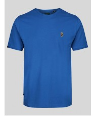 Luke Traff Core Crew Neck T Shirt In Blue - ZM280165
