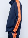Luke Sport Moremoor Navy & Orange Zip Through Funnel Track Top  - M520354
