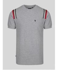 Luke 1977 Le Harve Light Marl Grey Short Sleeve T-Shirt - M520105