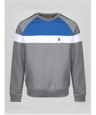 Luke Sport Adam 2 Sweatshirt Stripe In Mid Marle Grey - ZM420344