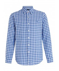 Polo Ralph Lauren Custom Fit Check Shirt In Blue & White