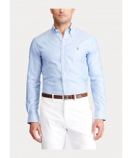 Polo Ralph Lauren Button Down Slim Fit Easy Care Shirt in Pale Blue