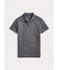 Polo Ralph Lauren Slim Fit Mesh Polo In Grey Heather