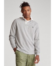 Polo Ralph Lauren Classic Fit Rugby Shirt In Grey Heather