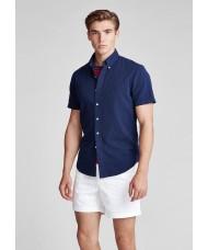 Polo Ralph Lauren Short Seersucker shirt in Navy