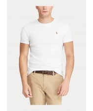 Polo Ralph Lauren Custom Slim Fit Interlock T-Shirt In White