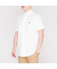 Polo Ralph Lauren Short Sleeve Mesh Shirt In White