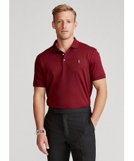 Polo Ralph Lauren Slim Fit Pima Cotton Polo In Burgundy