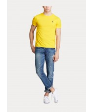 Polo Ralph Lauren Custom Slim Fit Cotton T Shirt In Yellow