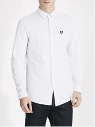 Lyle & Scott Long Sleeve Button Down Pique Shirt In White - LW515V