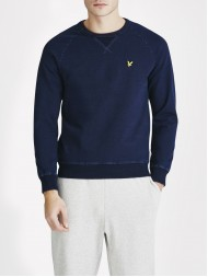 Lyle and Scott Crew Neck Sweatshirt In Dark Indigo - ML509V