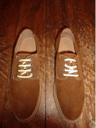 Paolo Vandini Mens Tan Suede & Leather Lace Up Shoes - Xantry