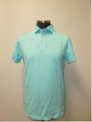 Hackett Garment Dye Cotton Polo In Turquoise - Slim Fit - HM560884 537