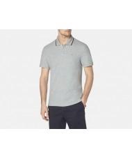 """Aquascutum """"Bosley""""  Polo Shirt In Grey Melange"""