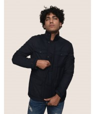 Armani Exchange four Pocket Blouson Jacket In Navy Blue - S: 3ZZK02 ZNV0Z C:1510