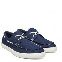 Timberland  Men's Union Wharf Oxford Boat Shoe In Navy  Blue
