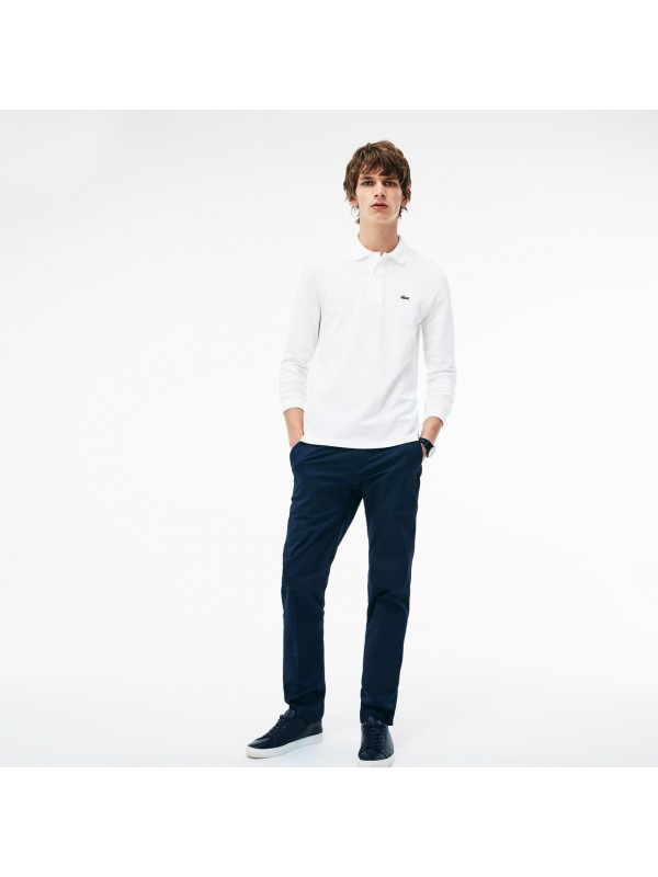 8a72a9256909db Lacoste classic fit long-sleeve polo in marl petit piqué - White - L1312 00  001