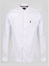 "Luke ""Cuffys Call"" White Long Sleeve Shirt With Button Down Collar - ZM320950"