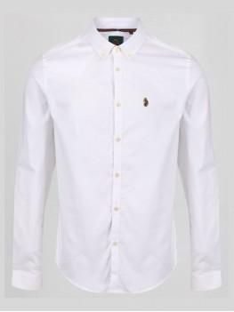 "Luke ""Cuffys Call"" White Long Sleeve Shirt With Button Down Collar - ZM320950"