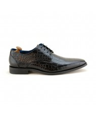 Paolo Vandini Men's Teilo Lace Croc Leather In Black