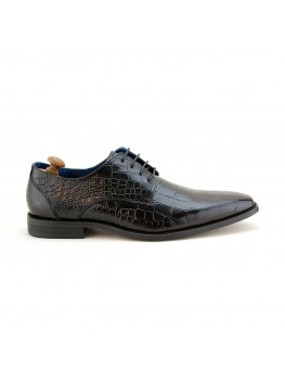 Paolo Vandini Men's Teilo Lace Croc Leather In Black