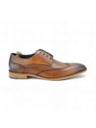 Paolo Vandini Men's Thane Brogue Leather In Tan