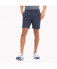 Tommy Jeans Twill Fitted Straight Shorts In Navy Blue - DM0DM01928