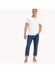 Tommy Jeans Repeat Print Crew Neck T In White - DMODM04117 905
