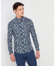 "Remus Uomo ""Ashton"" Slim Fit Printed Cotton Stretch Shirt -"