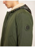 Armani Exchange Convertable Jacket With Geo Camo Vest - Dark green - 6ZZB27-ZNKBZ