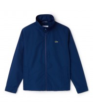 Lacoste Men's Concealed Hood Zippered Lightweight Taffeta Jacket In Blue - BH9193