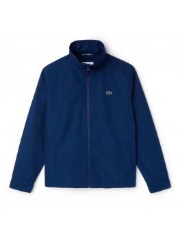 Lacoste Men's Concealed Hood Zippered Lightweight Taffeta Jacket In Blue - BH9193