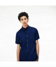 Lacoste Men's Regular Fit Short Sleeve Mini Piqué Shirt In Navy - CH9612-00