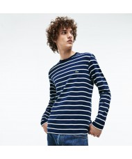 Lacoste Men's Long Sleeve Crew Neck Striped Jersey T shirt - TH9416 00