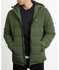 Lyle and Scott Wadded Jacket In Woodland Green -JK509