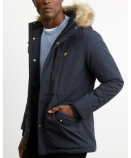 Lyle and Scott Winter Weight Parka In Navy Blue - JK911V