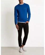 Lyle & Scott Space Dye Crew Neck Jumper In Duke Blue - KN902V