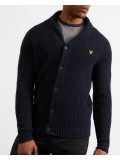Lyle & Scott Shawl Neck Cardigan In Navy Blue - KN917V