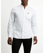 Lyle & Scott Long Sleeve Button Down Oxford Shirt In White - LW614VTR