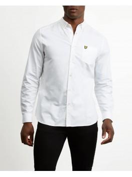 Lyle & Scott Long Sleeve Button Down Oxford Shirt In White - LW614VTR