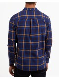 Lyle & Scott Long Sleeve Button Down Check Flannel Shirt - Duke Blue & Navy - LW716V