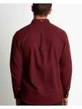 Lyle & Scott Long Sleeve Button Down Winter Weight Shirt In Claret Jug - LW902V