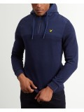 Lyle & Scott Soft Jersey 1/4 Zip Hoodie In Navy Blue - ML913V