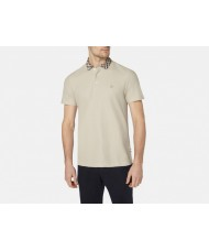 "Aquascutum ""Coniston"" Club Check  Polo Shirt In Beige"