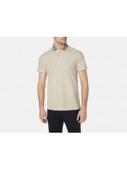 """Aquascutum """"Coniston"""" Club Check  Polo Shirt In Beige"""