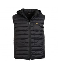 Barbour International Ousten Hooded Gilet In Black - MGI0006 BK91