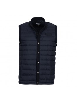 Barbour International Baffle Gilet In Navy - MKN0934NY