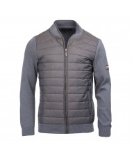 Barbour International Baffle Quilted Jacket In Storm Marl - MKN0937GY93