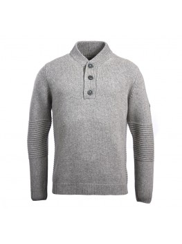 Barbour International Alternator Half Button Sweater In grey - MKN1134