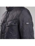 Barbour International Ariel Polarquilt Jacket In Charcoal - MQU0365